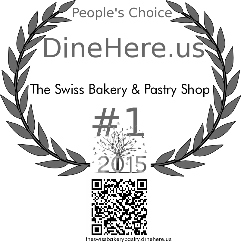 The Swiss Bakery & Pastry Shop DineHere.us 2015 Award Winner